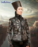 Handmade Aristocratic Style Jacket For Womens Of Genuine Leather Lace Coat. Sm
