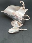Lovely Victorian Arts And Crafts Silver Plate Sugar Scuttle And Scoop C1890