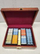 Vintage Optometrist Contact Lens Kit Case W/ Variety Lenses Containers Wooden