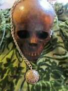 Haunted Witch Craft Vintage Memento Mori Tribal Skull Necklace 32