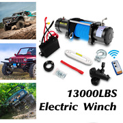 Anbull 13000lbs Electric Winch Steel Cable Offroad Jeep Truck Towing Truck 12v