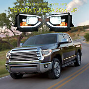 Led Sequential Headlights Replacement Left+right For 2014-2015 2017-2020 Tundra