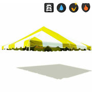 Premium 20x20 Pole Tent Canopy Yellow White 16 Oz Replacement Block Out Vinyl