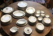Set Of 82+ Antique Noritake Rose China Service For 12 Occupied Japan Please Read