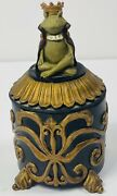 """Trinket Box Yogui Frog One Kiss From You And My Life Is Complete 4.5""""x3"""""""