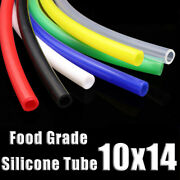 Food Grade Silicone Tubing 10x14mm Vacuum Hose Drinking Pipe Multiple Colour