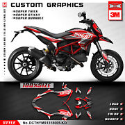 Kungfu Graphics Vinyl Sticker Decal Kit For Hypermotard Hyperstrada 821 939 Red