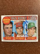 Rare Rollie Fingers Signed Autographs Topps Buyback 1969 597 Hof Athletics