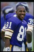 Wide Receiver Anthony Carter Of The Minnesota Vikings 1992 Old Nfl Photo