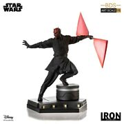 Iron Studios Star Wars Darth Maul 1/10 Painted Model Figure New Hot Toy In Stock