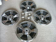 1966 Corvette 15andrdquo Wheel Covers Set Of Four Andndash Used For Parts - No Spinners