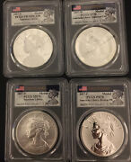 2017 American Liberty Fs 4 Silver 1oz Medals Pcgs 70s