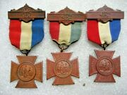 /medal 1883 Woman's Relief Corps Gar,lot Of 3 Medals