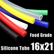Food Grade Silicone Tubing 16x21mm Vacuum Hose Drinking Pipe Multiple Colour