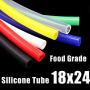 Food Grade Silicone Tubing 18x24mm Vacuum Hose Drinking Pipe Multiple Colour