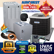 2 Ton Airquest By Carrier 14 Seer 80 44k Btu Gas Furnace And Heat Pump System Kit