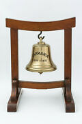Extremely Rare Cunard Rms Ss Carmania Commemorative Ship Bell With Stand