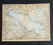 Set Of 2 Antique Maps - Lake Constance / Bodensee Switzerland, Germany - 1886