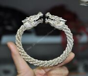 China Chinese Tibetan Silver Dragon Loong Head Ring Bracelet Jewelry Jewellery