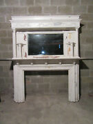 Huge Ornate Antique Fireplace Mantel 50 Opening Overall 80 X 96 Salvage