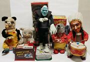 Lot Of 5 Vtg Battery Operated Toys All In Working Conditions