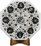12x12 Marble White Top Wall Decorate Tile Black Z Floral Fine Art Outdoor Deco
