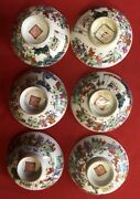 6 Cups Antique Porcelain Chinese/faience China