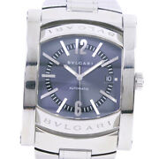 Bvlgari Aa48s Assioma Watches Stainless Steel Mens Bluedial