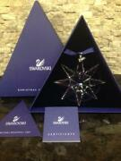 2009 - New Crystal Large Snowflake Christmas Ornament W/certificates