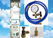 R12 Refrigerant 12 Professional Recharge Kit 28 Oz Can With Gauge Hoses