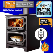 Nectre N550w Wood Burning Stove And Oven With Water Jacket / Scratch And Dent