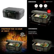Key Safe Lock Box Waterproof Document Safe Fire Resistant Home Safety Chest New