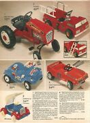 Vintage 1982 Dukes Of Hazzard General Lee - Smurf Mobile Pedal Cars Print Ad