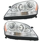 Genuine Pair Set Of Left And Right Headlights For Mercedes W164 Ml350 Ml500