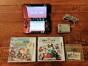 New Japanese Zen Style Nintendo 3ds Xl - 4 Games - Charger And Stylus