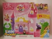 New In Box Disney's Little People Musical Dancing Palace With Belle And Cinderella