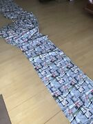 Vintage 40and039s/50and039s Atomic Unused Barkcloth Bolt 11 Continuous Yards Butterflies