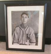 Rare Ted Williams Minor League Photo Autographed And Numbered