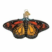 Old World Christmas Monarch Butterfly 12475n Glass Ornament W/ Owc Box