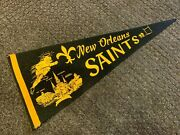 1960's New Orleans Saints Full Size Nfl Pennant Very Rare Nm