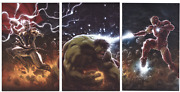 Immortal Hulk Thor And Iron Man 1 Andrews Virgin Connecting Covers