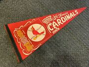 1968 St. Louis Cardinals Full Size Mlb Pennant Nl Champs Scroll Ex