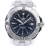 Breitling A17380 Chronometer Colt Watches Stainless Steel Mens Blackdial