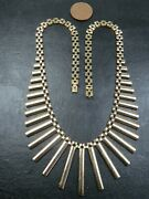 Vintage 9ct Gold Cleopatra Panther Link Necklace Chain 16 Inch 1977