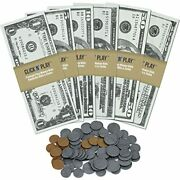 Click Nand39 Play Pretend Money For Kids Realistic Bills And Coins Counting Math