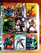 1992 Marvel Masterpieces Master Set+lost Cards+promos+ Prototype+sell Sheet+tin