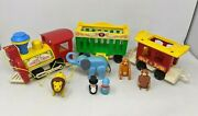 Vtg 1973 Fisher Price Little People Play Family 991 Circus Train Set Toy Cd21