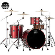 Mapex Saturn Evolution Hybrid Organic Rock 3pc Shell Pack Tuscan Red Lacquer