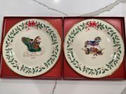 Lenox Christmas Annual Holiday Collector Dinner Plates Set Of 12 Years 1991-2002