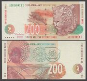 South Africa P.127b 200 Rand Sig 8 Pfx Ae Uncirculated Low Shipping